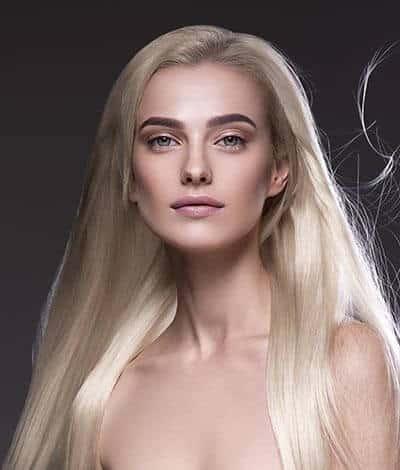 antes con extensiones de cabello adhesivas